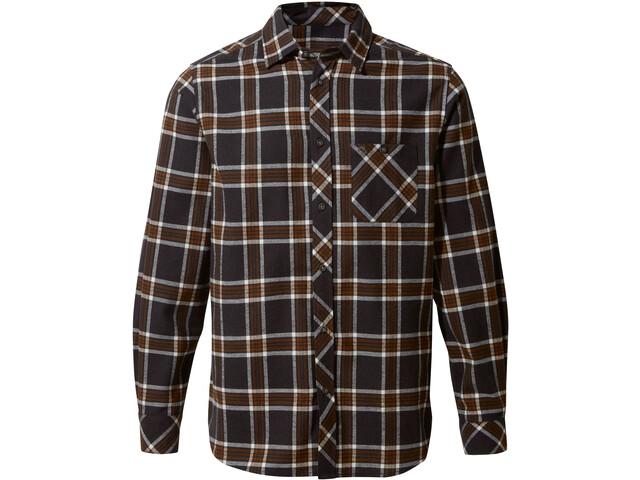 Craghoppers Cogwheel Long Sleeved Shirt Herr Ibex brown check